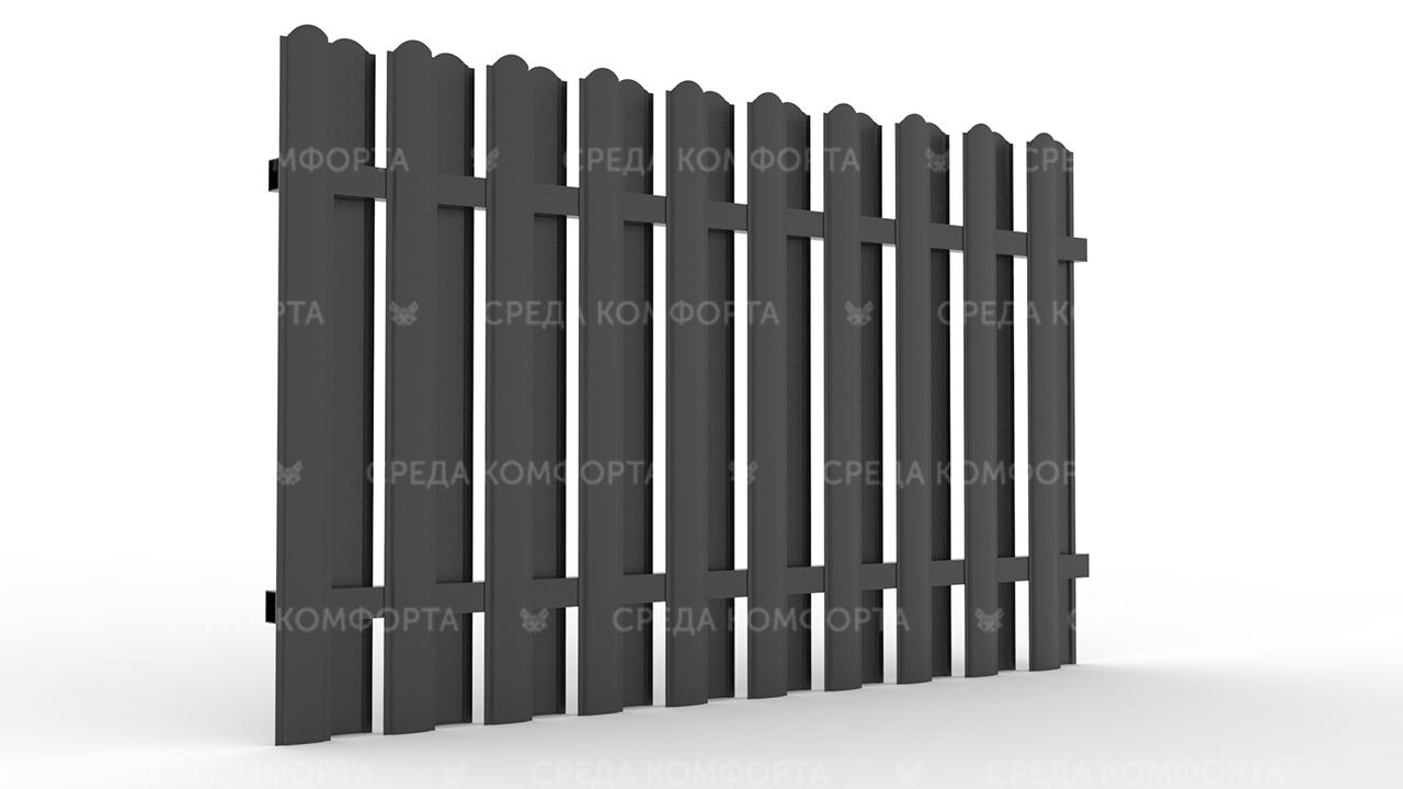 Забор из евроштакетника ZBR0041