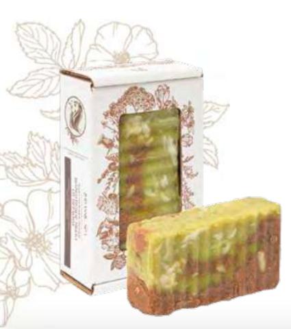 Шампуневое мыло от перхоти. Сварено из растительных масел горячим способом, 110 ± 10 г
