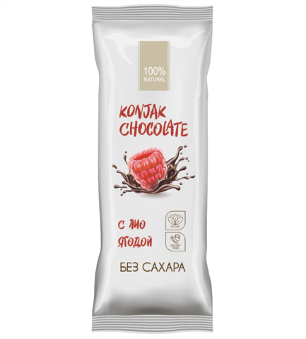 Konjak Chocolate Шоколад без сахара Малиновый