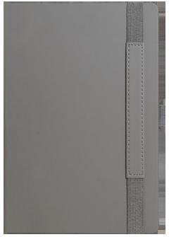Ежедневник Portobello Trend, Alpha, недатированный, серый/бирюзовый