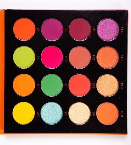 OG-DE7193 PRO PIGMENT PALETTE 2 Палетка пигментов 16 цветов для век (оттенки B1-B16)