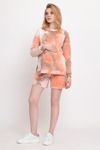 Спортивный костюм для беременных и кормящих 12535 персиковый