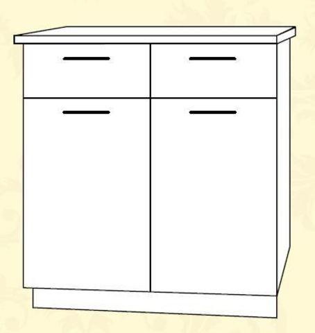 ШН2Я 800 Шкаф нижний 2 ящика