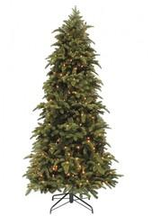 Искусственная елка Black Box Нормандия стройная 185 см 184 лампы темно-зеленая