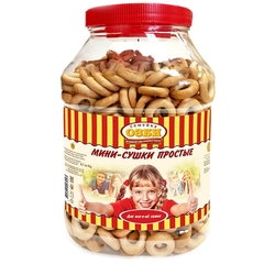 Сушки Мини-сушки простые  Семейка ОЗБИ банка 2,3 кг