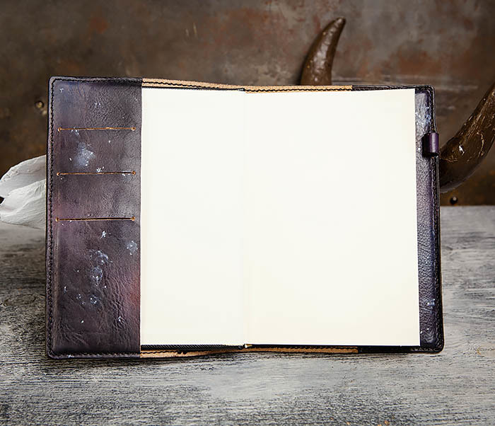 BC202 Подарочный кожаный ежедневник «Гагарин» с художественным раскрасом (A5) фото 11