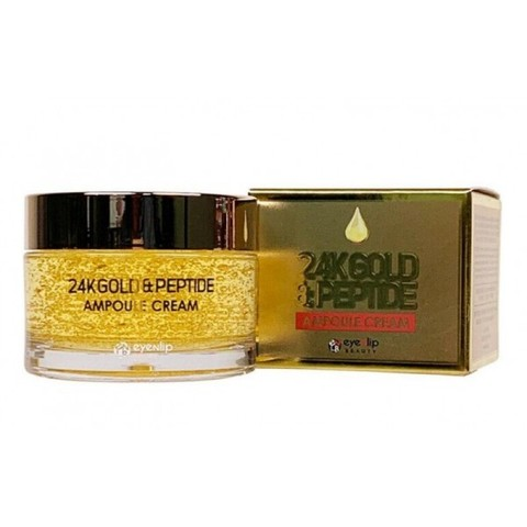 Крем с пептидами и золотом 24K GOLD & PEPTIDE AMPOULE CREAM 50g