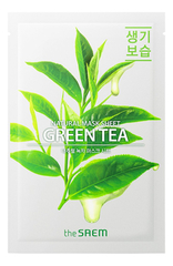 Тканевая маска для лица с чайным деревом, The SAEM, Natural Green Tea Mask Sheet, 21мл
