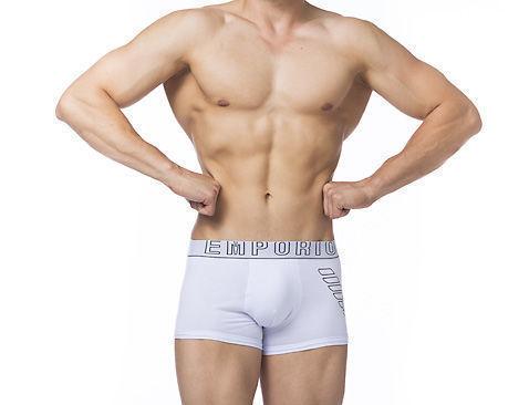 Мужские трусы боксеры белые  Emporio Armani Eagle White Boxer