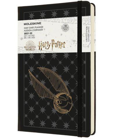 Ежедневник Moleskine (DHP18DC3) LE Harry Potter Large 130х210мм датир.18мес 592стр. черный