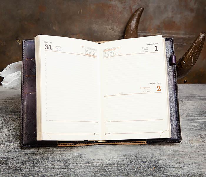 BC202 Подарочный кожаный ежедневник «Гагарин» с художественным раскрасом (A5) фото 12