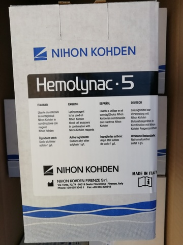 MEK 910I/MEK 9101 Лизирующий реагент Хемолинак 5 (Hemolynac-5 MEK 910 I), 1л - Nihon Kohden Firenze S.r.l., Италия (арт.MEK-910I)