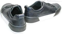 Красивые модные кроссовки. Мужские кеды кожаные осень весна Luciano Bellini C6401 TK Blue.