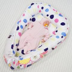 Кокон-Гнездышко для новорожденного Farla Nest Цветочный