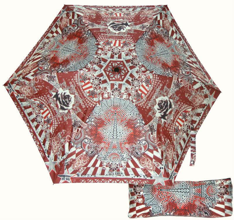 Зонт мини JP Gaultier 1265 BIS RED-Tour Eiffel