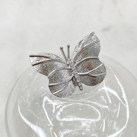 Брошь Бабочка Простая серебряный