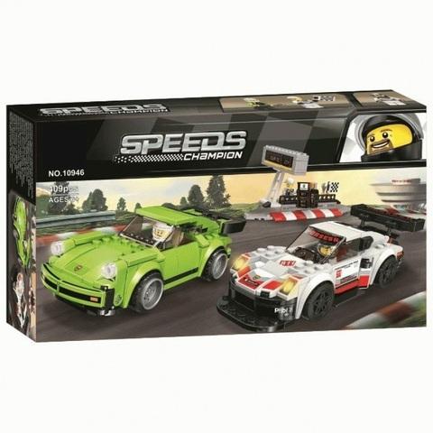 Конструктор 10946 Speed Champion Porsche 911 RSR и 911 Turbo 3.0