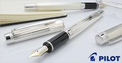Перьевая ручка Pilot Grance NC Sterling Silver (полосы, перо 18К Fine)