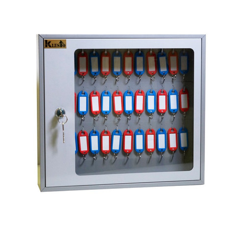 Шкаф для ключей Klesto SKB-39 на 39 ключа, серый, металл/стекло