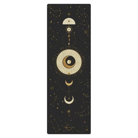 Коврик для йоги Munari Black 183*61*0,1-0,3 см из микрофибры и каучука