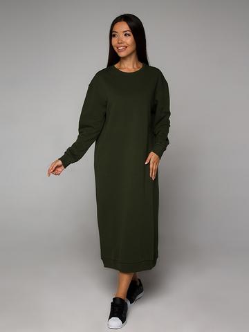 Платье-свитшот оливковое YOS