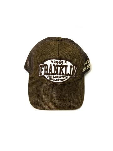 Бейсболка с сеткой Franklin, коричневого цвета