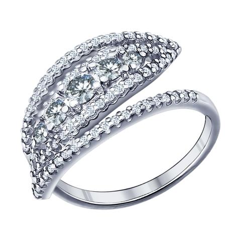 94011435 - Кольцо из серебра с фианитами