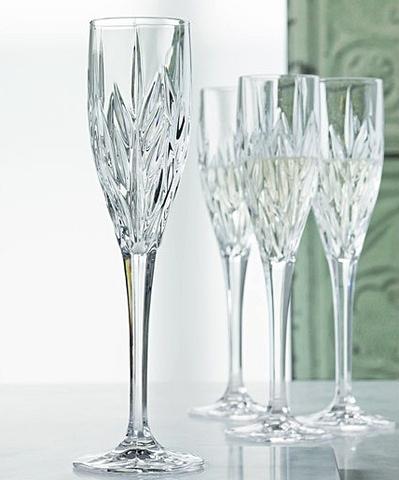 Набор из 4 хрустальных фужеров для шампанского Imperial, 140 мл