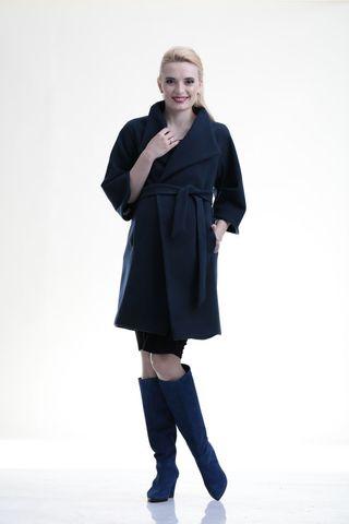 Пальто для беременных 07702 синий