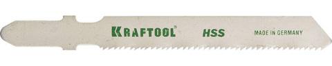 Полотна KRAFTOOL, T118A, для эл/лобзика, HSS, по металлу (1,5-2мм), EU-хвост., шаг 1,2мм, 55мм, 5шт
