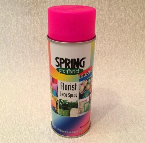 Краска-спрей SPRING флуоресцент. Цвет: 399, розовый