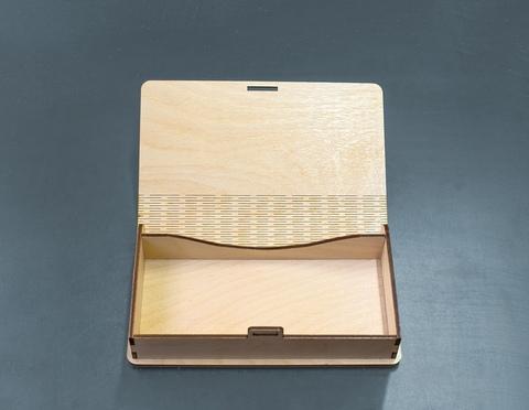 Купюрница ДекорКоми из дерева с фотогравировкой