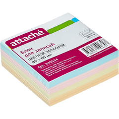 Блок для записей Attache 80x80 мм разноцветный (плотность 80 г/кв.м)