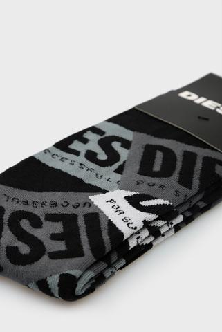 Мужские черные носки с узором SKM-HERMINE Diesel