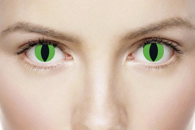 Линзы зеленые ужасные
