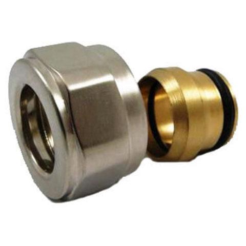 Резьбовое соединение для медных труб матовое золото GW 22x1.5 x 15MM