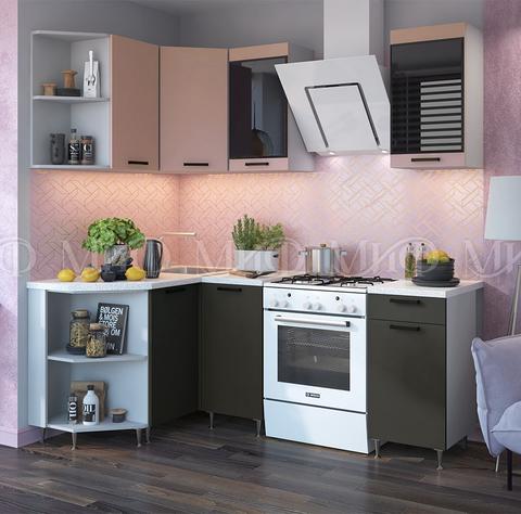 Кухня Угловая Техно NEW 1,3-1,4 м