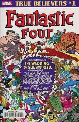True Believers: Fantastic Four. The wedding of Sue and Reed!