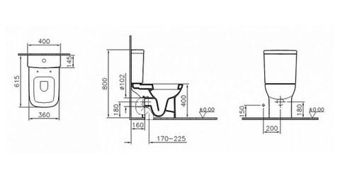 Унитаз-компакт VitrA S20 9819B003-7202