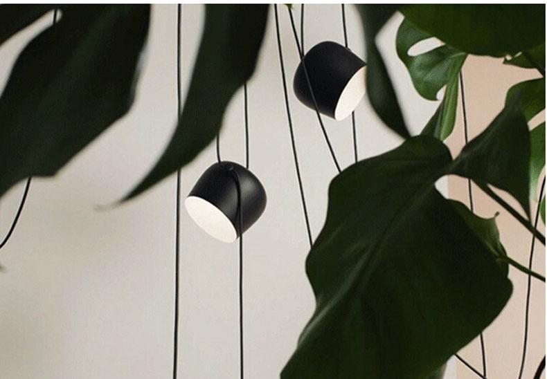 Подвесной светильник копия AIM by Flos (3 плафона, черный)