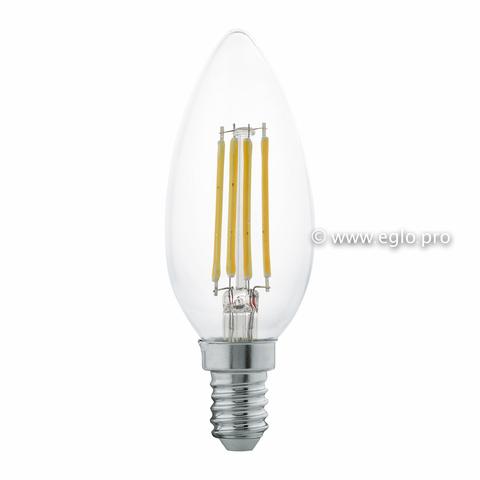 Лампа LED филаментная прозрачная Eglo CLEAR LM-LED-E14 4W 350Lm 2700K C35 11496