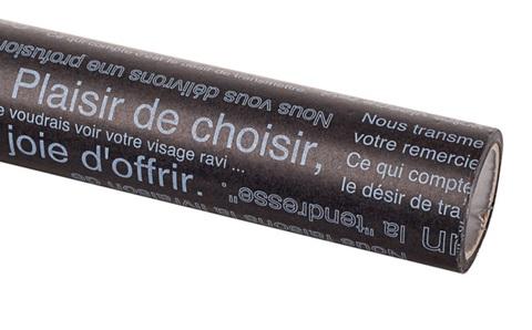 Бумага вощеная 65 см 10м, Надписи, черный