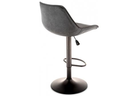 Барный стул Kozi серый / коричневый 50*50*90 Окрашенный металл /Коричневый