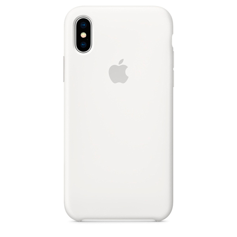 iPhone X Silicone Case White