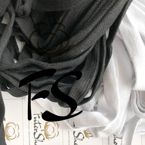 Шнур хлопковый турецкое плетение Белый / Чёрный