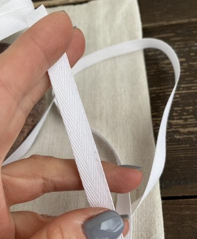 Киперная тесьма 10мм, белый