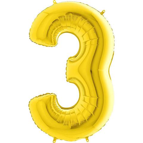 Цифра 3 (Золотая)