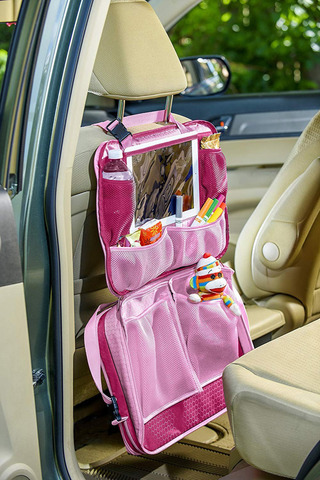 Детская дорожная сумка-органайзер Розовая