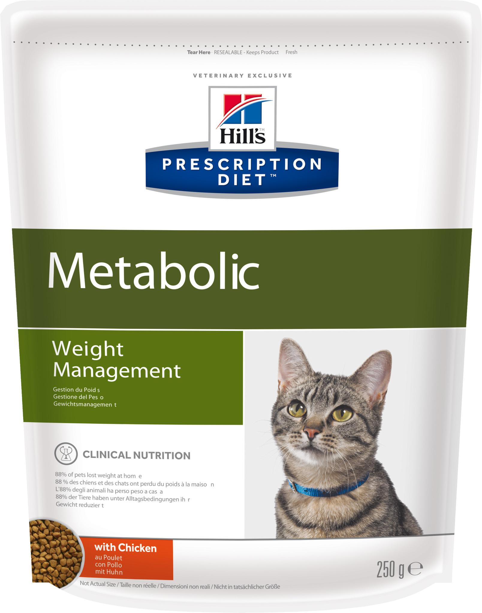 купить хиллс Hill's™ Prescription Diet™ Feline Weight Managemen wiht Chicken сухой корм для взрослых кошек, диетический рацион для коррекции веса 250 гр