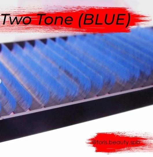 Ресницы Toris Beauty  2Tone (омбре) матовые изгиб C 0,07 mix